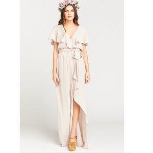 Show Me Your MuMu • Audrey Nude Maxi Dress